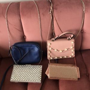 4 satchel evening purses